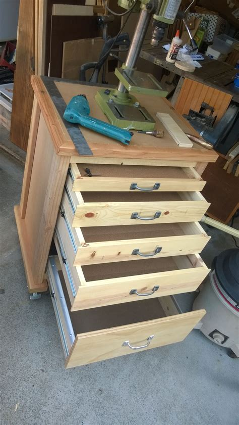 mobile bench top drill press workstation created