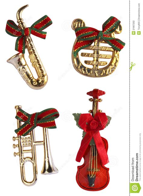 christmas  instrument decoration stock photography