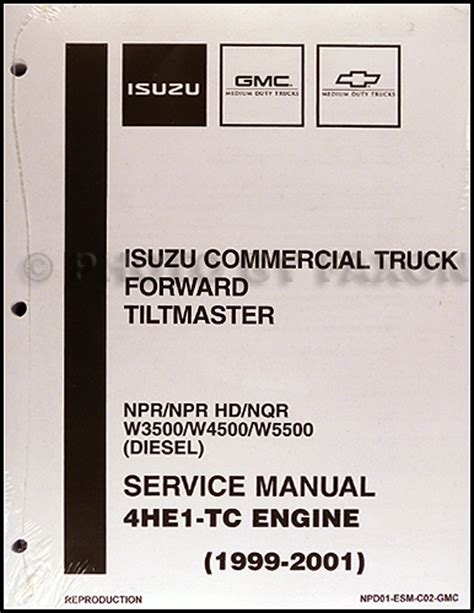 2002 Gmc W5500 Wiring Diagram by Diesel Engine 4he1 Tc Shop Manual Isuzu Npr Nqr W3500