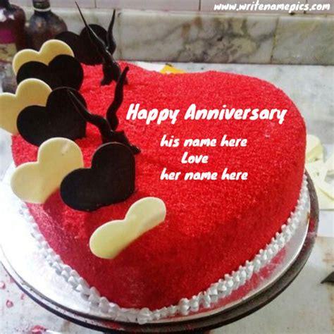 red velvet heart shape anniversary cake