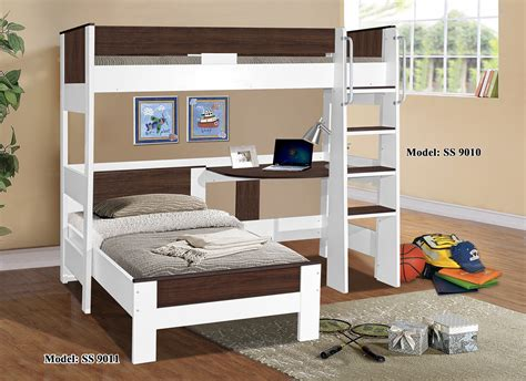 loft bed with denver single loft bunk 9010 9011