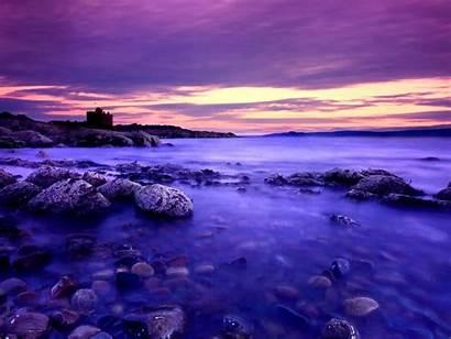 Sunset Purple Beach Pc Wallpapers Allwallpaper Standard