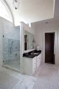 Bathrooms with Shower Walls Behind Sink