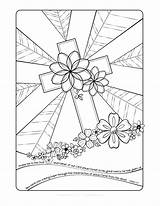 Cross Coloring Jesus Pages Christ Easter Printable Adult Getcolorings Ad sketch template