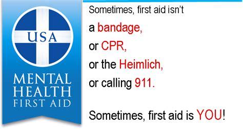 Mental Health First Aid | NAMI Wood county