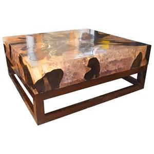 home fashion interiors cracked resin coffee table for sale at 1stdibs