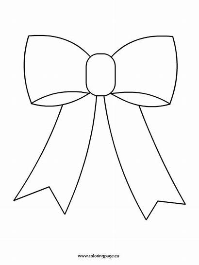 Bow Christmas Coloring Bows Pages Template Clipart