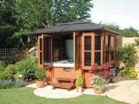Gazebo Enclosed Hot Tub