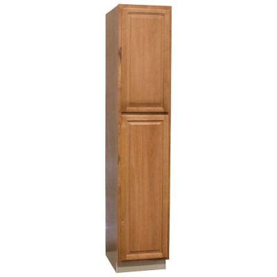 unfinished pantry cabinet home depot hton bay 18x90x24 in hton pantry cabinet in medium
