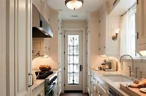 Black and White Galley Kitchen - Contemporary - kitchen ...