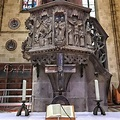 """The """"Ulm Minster"""" of Ulm/Germany pulpit in the middle of ..."""
