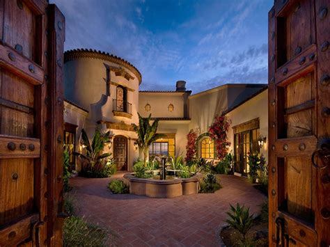 spanish style house plans central courtyard house plans