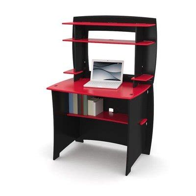 legare kids desk with hutch 36 inch red and black