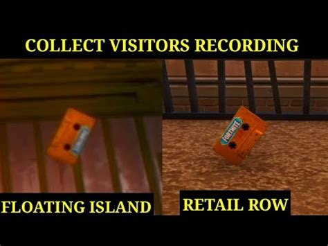 collect  visitor recording   floating island
