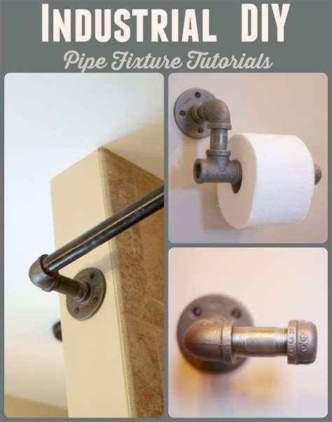 toilets industrial and curtain rods on