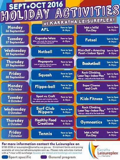 Karratha Holiday Program Leisureplex Wa Gov Holidays