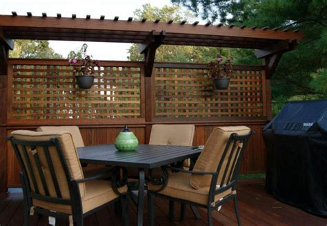 outdoor attractive privacy ideas  decks giving chic