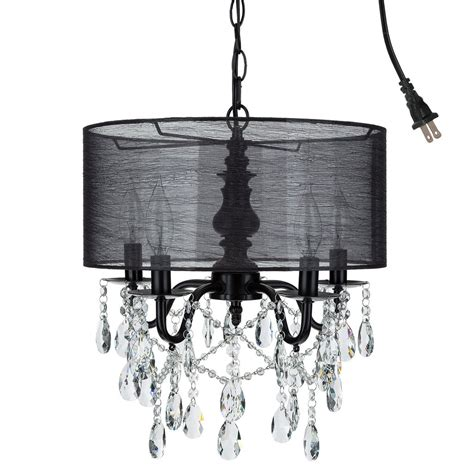 black shaded chandelier 5 light black in chandelier with shade