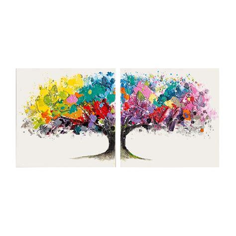 Acryllack Wohnen Sie Bunt by Baumbild Acrylfarbe Text Struktur Schmetterlinge
