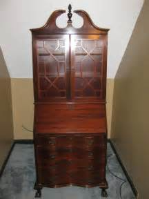 Antique Secretary Desk with Cabinet
