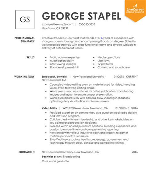 Proper Resume Format Sle by 9 Best Resume Formats Of 2019 Livecareer