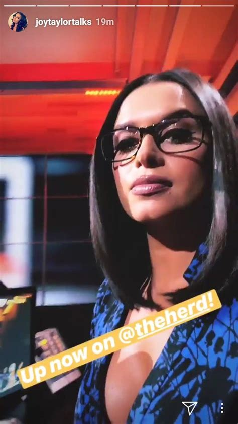 joy taylor  purple dress glasses joy taylor future