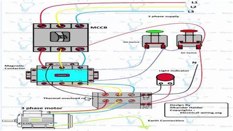 Phase Motor Starter Wiring Diagram Webtor
