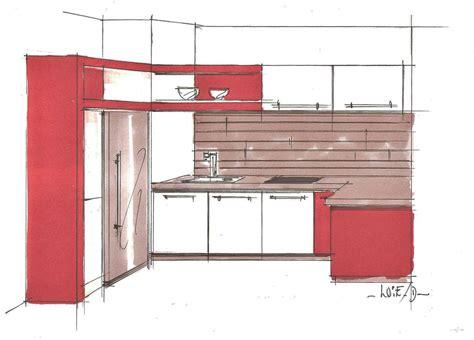 perspective cuisine dessin perspective cuisine 001 photo de dessins héloïse desrumaux