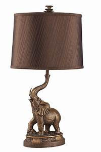 ore international 27 inch h bronze elephant table lamp 2 With table lamp elephant base