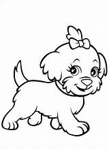 Coloring Puppies Pages Printable Puppy Dog sketch template