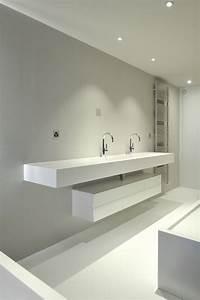 amenagement de cuisine et de salle de bains solid surface With plan vasque salle de bain sur mesure