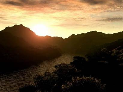 Sun Rising Sunrise Mountain Wallpapers Clipart Ws