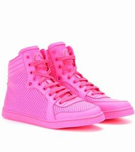 mytheresa Neon leather high top sneakers Luxury