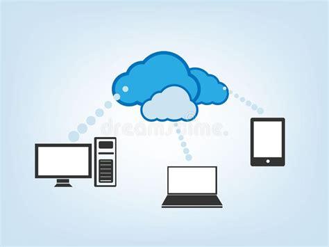 drive cloud cloud drive vector illustration stock vector