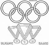 Medal Coloring Olympic Template Olympiad sketch template