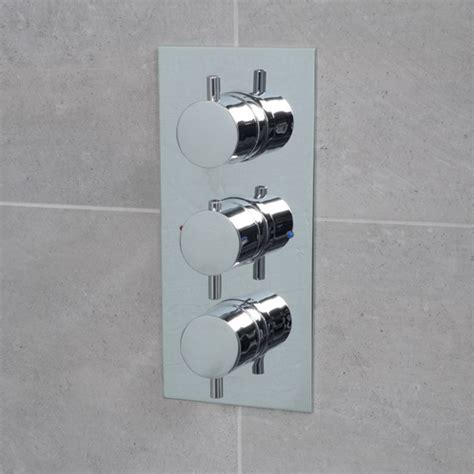 concealed triple control thermostatic shower valve