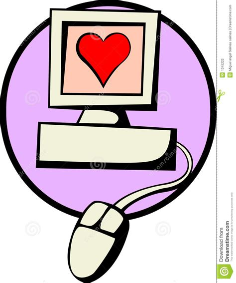 computer love vector illustration stock vector