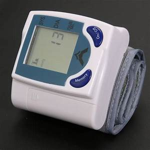 Digital Wrist Blood Pressure Monitor  U0026 Heart Beat Meter