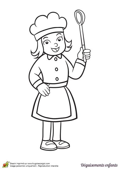 dessin de cuisine à imprimer coloriage déguisement enfant cuisinier