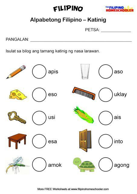 worksheet  grade  math tagalog  worksheet