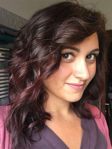 chocolate mauve hair color fall 2016 trend colored curly hair hair curly balayage hair