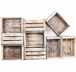Caisse Bois Deco : caisse en bois marqu e pour une d co vintage et rustique ~ Teatrodelosmanantiales.com Idées de Décoration