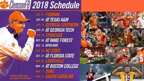 Clemson Tigers Football Wallpaper Clemson Football 2018 Schedule Released Youtube