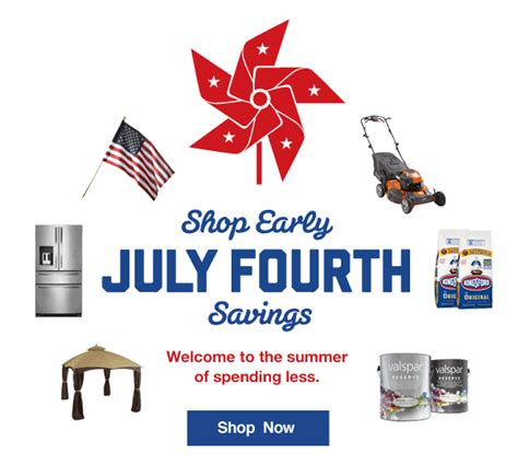 is lowes open on july 4th lowes july 4th savings start now milled