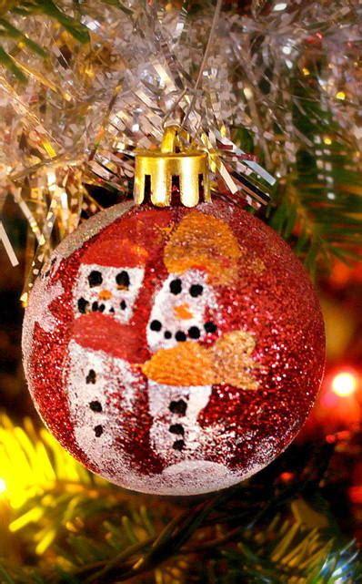 fingerprint snowman diy ornaments favecraftscom