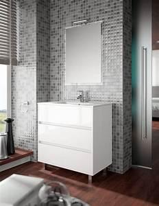 meuble de salle de bain salgar serie arenys 80 cm With carrelage adhesif salle de bain avec lumiere exterieur led