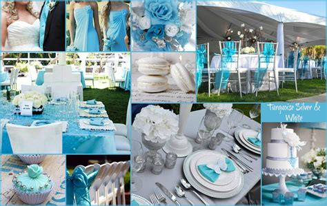 Turquoise White And Silver Wedding Inspiration I Do In
