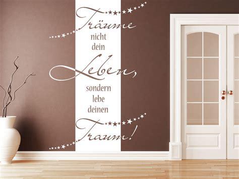 Wand Im Flur Gestalten by Wandbanner Tr 228 Ume Nicht Dein Leben Wandtattoo