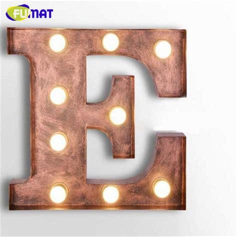 E Light by Fumat Cafe Logo Wall Light Letters E Wall Ls Metal