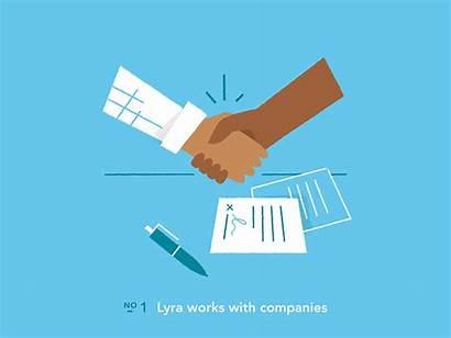 Health Lyra Providers Mental Contract Dribbble Handshake